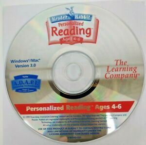 Reader Rabbit Personalized Reading Ages 4-6 Learning Company Cd-Rom Only (1999)