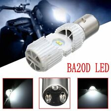 1Pcs BA20D 4 LED Scooter Hi/Lo 6000K 20W Motorbike Moped ATV Headlight Lamp Bulb