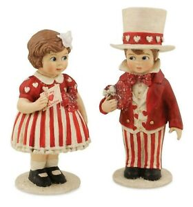 Bethany Lowe Set Of 2 Valentine Sweethearts TD5000 Girl And Boy