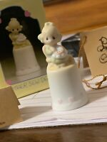 Precious Moments Vintage 1984 Mother Sew Dear Thimble Figurine w/Box #13293