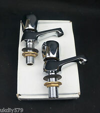Harlequin Chrome Crown Basin Taps CE11CP Free Delivery VAT Included(D448)