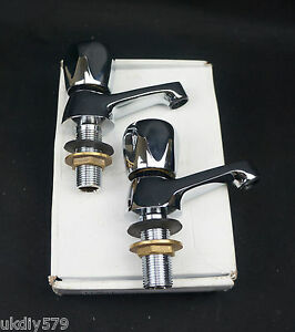 Harlequin Chrome Crown Basin Taps CE11CP Free Delivery VAT Included (D448)
