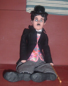 "GREAT 18"" Vinyl Charlie Chaplin Doll 1972 ""Charlie's Back"" Cadeux Milton Bradley"