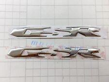 GSR Raised 3D Chrome Silver Decal Emblem Fairing Sticker Suzuki GSR 600 Bling