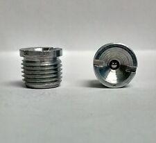 1/8-27 NPT Flush Straight Slotted Grease Zerk Nipple Fitting 2 pcs