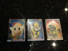 Super Mario Galaxy FOIL trading lot of 3 cards apricot luma luigi dino piranha