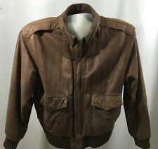 Vtg Men's Global Identity G-III Leather Bomber Jacket Coat Size L Lined