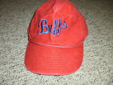 Vintage Buffs red & blue corduroy hat cap snapback adjustable