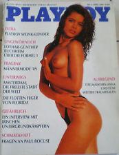 ALTER PLAYBOY AUS DM ZEITEN-TITELBILD-ANNA-4/89-TOP EROTISCHE FOTOS-Weinkalender