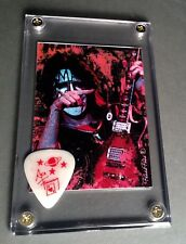 KISS Ace Frehley legends card / glow in the dark Japan guitar pick display!