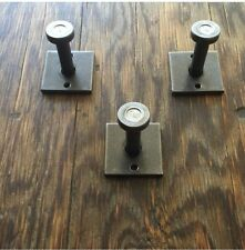 NEW Metal Industrial Wall Coat Hook Set Of Three (3) French Farmhouse Organize