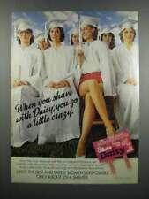 1983 Gillette Daisy Razor Ad - Go a Little Crazy