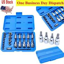 30 PCS Male Tamper Proof Star Bit & Female E Socket Set Torx Driver Bits Tool