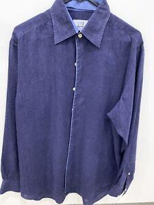 DUNHILL Men's Pure Linen Blue Shirt Medium Worn One Time Like New