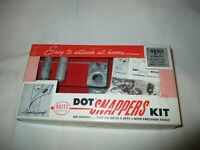 Vintage Dritz  Dot Snappers Kit with Original Box and Instructions