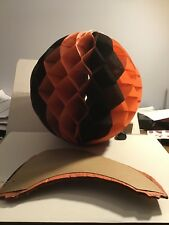 Vintage Halloween Honeycomb Tissue Paper Ball Decorations 11� Round Usa 1950s?