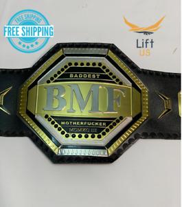 UFC BMF Replica Title Belt Championship Adult Size Brass 2MM Original Leather