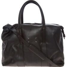 MAISON MARTIN MARGIELA Black Leather Weekend Bag