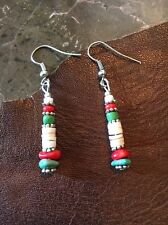 HEISHI Earrings Kingman Turquoise Southwestern Cowgirl ISLAND SURFER TRIBAL