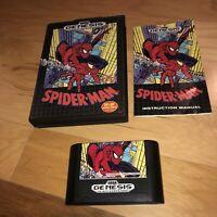 VG COND Spider-Man 1 Sega Genesis Game COMPLETE CIB Tested Works Great Original