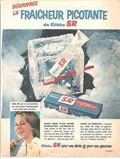 PUBLICITE ADVERTISING 1959 GIBBS SR la Fraîcheur Picotante
