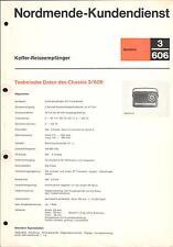 Nordmende Service Manual für Mambino 3.606