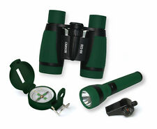 Child Outdoor Adventure Pack 5x30mm Binocular Compass Flashlight Thermometer