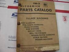 International TM3 Tillage Disk Parts Catalog Manual IH IHC McCormick Deering