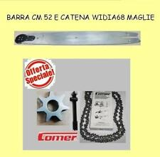 barra con rullo cm 52 per elettrosega comer E21-E23 con catena widia+kit catena