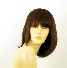Perruque femme 100% cheveux naturel châtain ref ISA 6