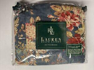 NEW Ralph Lauren TWIN Bedskirt CHADWICK Blue Floral Ruffle