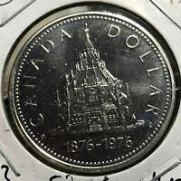 1976 CANADA SILVER ONE DOLLAR  BRILLIANT UNCIRCULATED CROWN