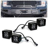 "4PC 3.75"" 12W LED Light Bars Offroad Spot Work Fog Cube Lamp+Mount Kit C13M"