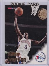 ALLEN IVERSON ROOKIE CARD 1996/97 Skybox NBA Hoops RC Philadelphia 76ers HOFer!