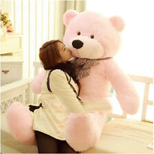 100CM Teddy Bear Pink Giant Big Cute Plush 100% Cotton Huge Soft Toy Pink ZX US