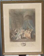 Fimonel d'après  Baudouin - Le Couché de la mariée - Gravure en couleur XIXe s.