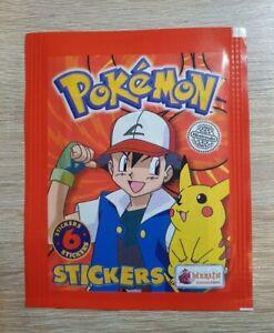 Merlin 1 Tüte Pokemon Sticker 1999 Bustina Pochette Packet Pack Bag Pouch Topps