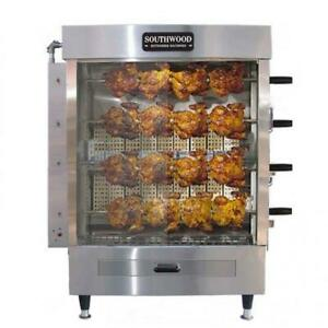 Southwood RG4 20-Chicken Gas Heavy-Duty Rotisserie Machine, NG