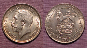 1915 KING GEORGE V SHILLING - Top Grade Coin With Full Lustre