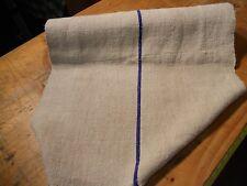 A Homespun Linen Hemp/Flax Yardage 5 Yards x 22''  Blue Stripes #10581