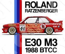 Retro Touring Car T-shirt: M3 E30 BTCC '88 Roland Ratzenberger XXL Light Grey