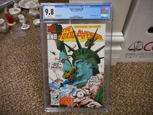 Toxic Avenger 8 cgc 9.8 Marvel 1991 Marvel Statue of Liberty cover MINT WHITE pg