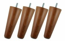 "Legheads 6"" x 5/16"" Replacement Acrylic Furniture Legs Faux Dark Wood Grain"