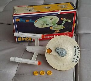 Dinky No.358 Star Trek USS Enterprise 1976 with  3 Photons & Box. Collectable.