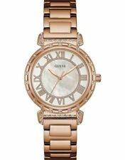 Guess Ladies Watch Rose Gold White - Stunning Gift Present Xmas Birthday W0831L2