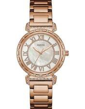 GUESS montre femme or rose blanc-superbe cadeau de Noël Anniversaire W0831L2