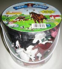 Jumbo Size Plastic Farm Animals Figures Tub Playset No.637 New In Tub!