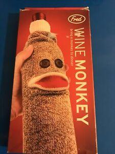 FRED & FRIENDS Wine Monkey Sock-Like Simian Novelty Wine Bottle Cover New (T273