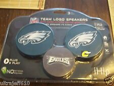 Philadelphia Eagles Team Logo Plug and Play Speakers for iPhone iPod MP3 NIP