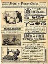 Hildebrand & Wolfmüller München Motor-Fahrrad Salvator Bier-Brauerei Ehre...1895